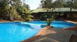 Swimmingpool im Hotel La Aldea de la Selva Lodge, Puerto Iguazu00fa in Argentinien