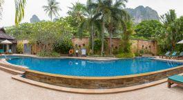 Swimming Pool im Railay Village Resort & Spa Hotel, Railay Strand in Thailand