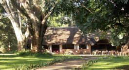 Auu00dfenansicht im Hotel Rivertrees Country Inn in Arusha, Tansania