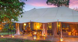 Auu00dfenansicht, Mara Ngenche Safari Camp in Masai Mara, Kenia