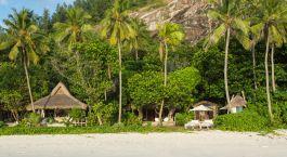 Frontansicht, North Island Hotel in Seychellen