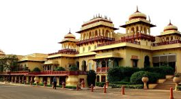 Fassade Taj Rambagh Palace Jaipur Indien