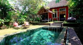 Swimmingpool im Tugu Lumbok in Lombok, Indonesien