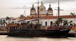 Cartagena boat, Colombia, South America
