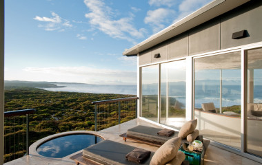 View from the balcony, Southern Ocean Lodge, Kangaroo Island, Australia