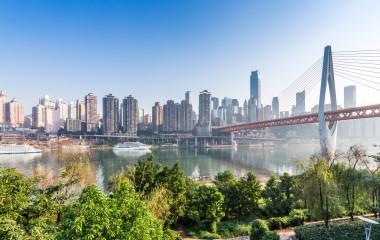Modern metropolis skyline, Chongqing, China, Asia
