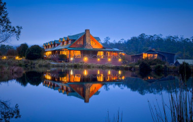Night view of Peppers Cradle Mountain Lodge, Cradle Mountain National Park, Australia