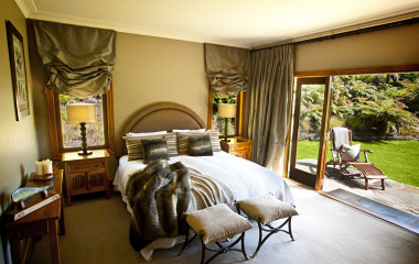 Bedroom, Treetops Lodge, Rotorua, New Zealand