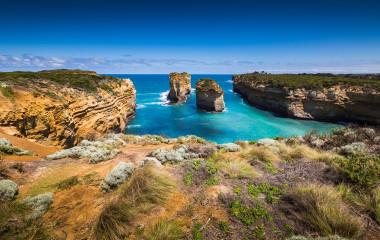 Landscape of Apollo bay, Victoria, Australia