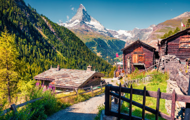 Zermatt village with Matterhorn