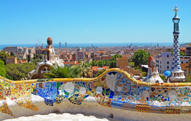 Park Güell over a body of water