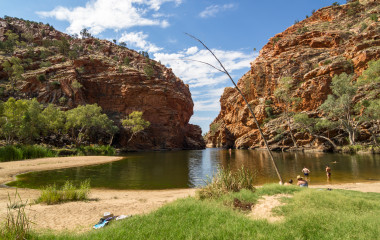 Oasis at Alice Springs , Australia