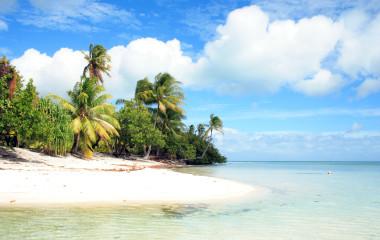 Beach on Tahaa Island