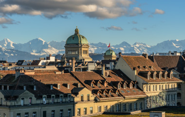 View over the old town of Bern
