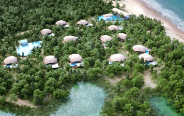 Aerial view of Chena Huts, Yala Hotels, Sri Lanka Tours, Asia