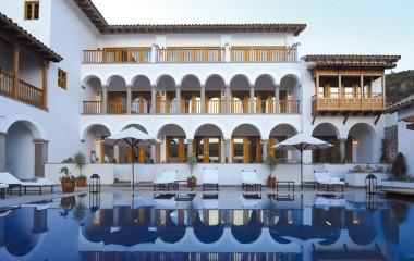 Auu00dfenpool im Hotel Belmond Palacio Nazarenas, Cusco, Peru