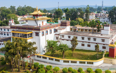 Mindrolling Monastery is a tibetan monastery located near Clement Town in Dehradun, Uttarakhand, India, Asia