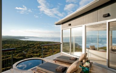 View from the balcony, Southern Ocean Lodge, Kangaroo Island, Australia