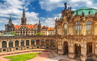 Zwinger palace or castle in city of Dresden built in baroque style, Dresden, Germany, Europe