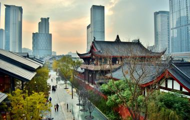 Chengdu, Temples, Shopping District, and Modern City Center - Chengdu, China, Asia