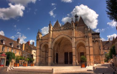 Notre Dame Church at Beaune, Burgundy, France, Europe