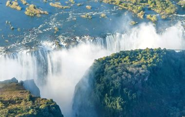 Victoria falls, National Parks and World Heritage Site, Zambia, Zimbabwe, Africa