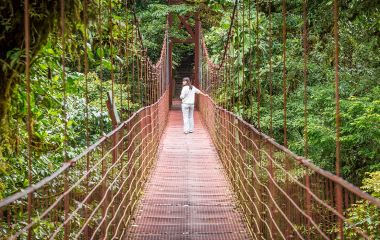 Hanging suspended bridges, Costa Rica Tours