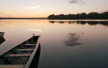 Sunset in the jungle Puerto Maldonado, Peru, South America