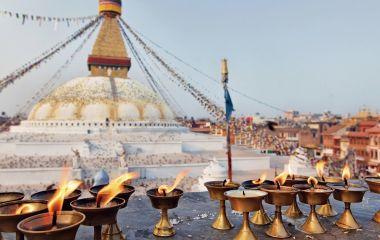 Boudhanath Stupa in Kathmandu valley, Nepal, Asia