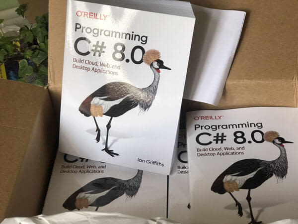 Programming C# 8.0 Book, published by O'Reilly Media, is now available to buy.