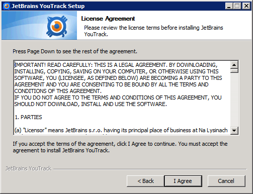 01-02-install-youtrack-license-agreement