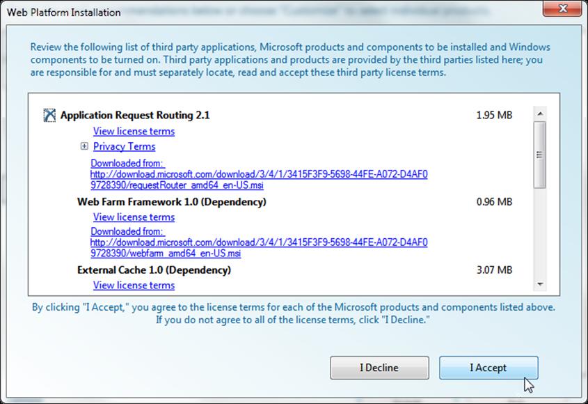 02-03-web-platform-installer-media-platform-application-request-routing-license