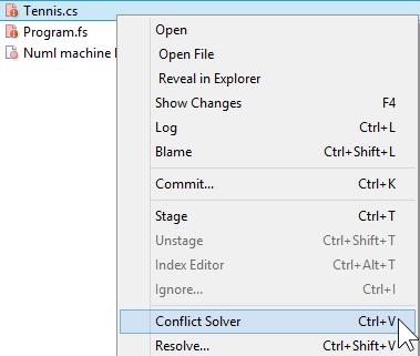 SmartGit context menu