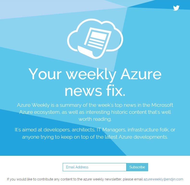 azure weekly signup