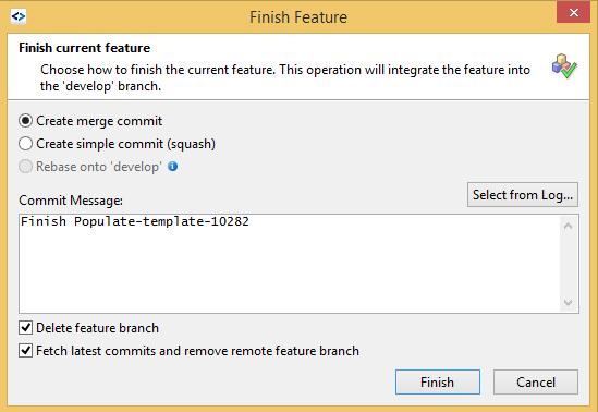 SmartGit finish feature