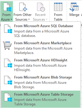 From Azure options