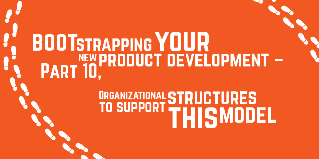 Step-by-step guide to bootstrapping your new product development – Part 10, Organizational Structures
