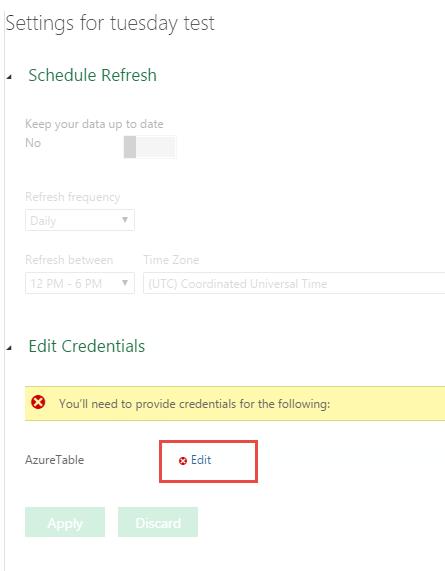 schedule refresh area