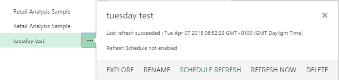 schedule refresh