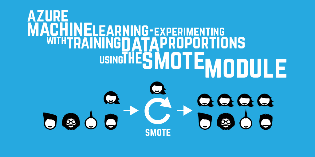 Azure Machine Learning–experimenting with training data proportions using the SMOTE module