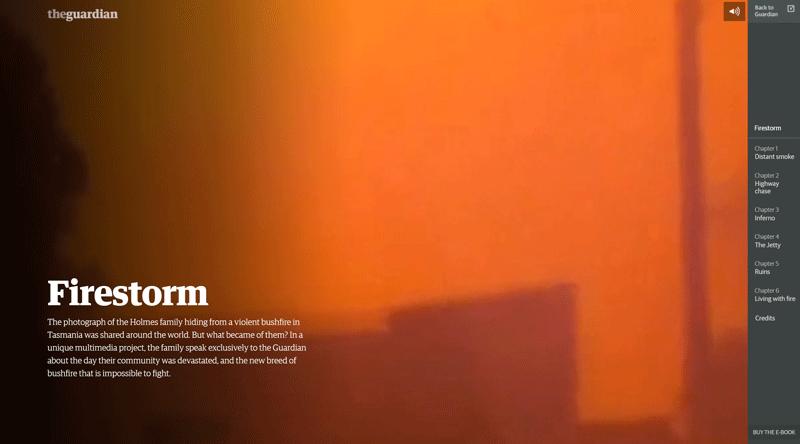 Firestorm Guardian interactive online feature