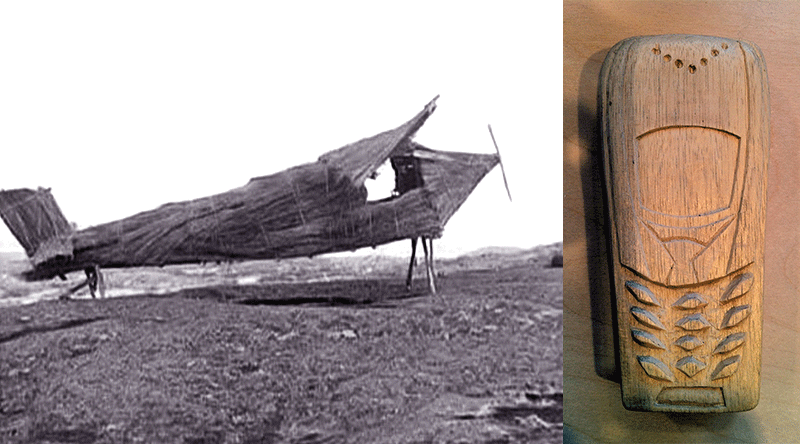Cargo Cults Bamboo Plane and Wooden Phone