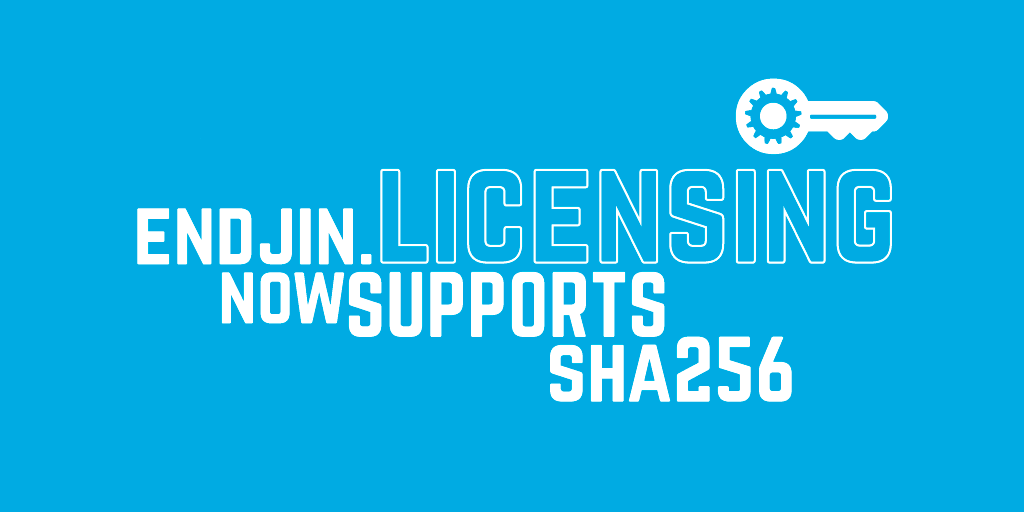 Endjin.Licensing now supports SHA256