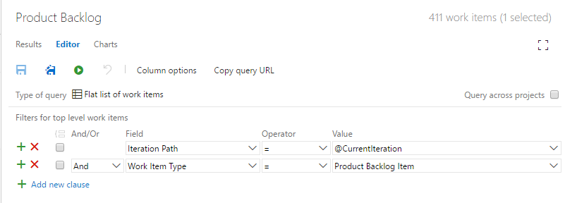 VSTS query