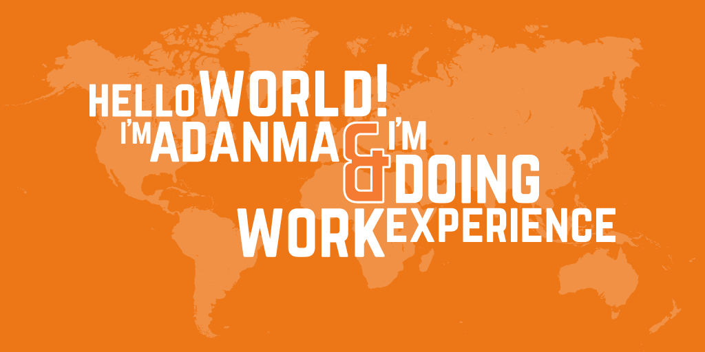 Guest Blog Post: Hello World! I'm Adanma and I'm doing work experience.