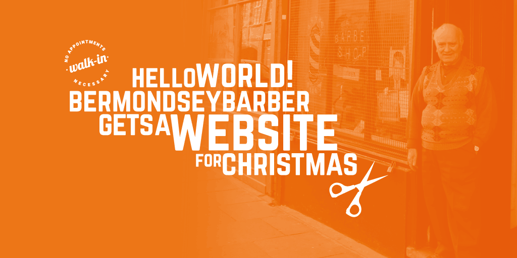 Bermondsey barber gets a website for Christmas after featuring in Time Out London
