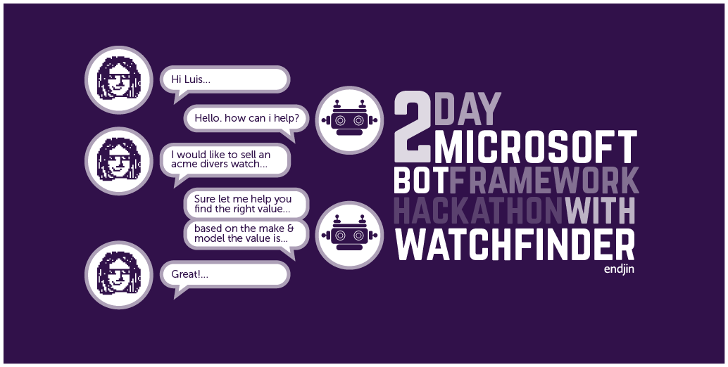 2 Day Microsoft Bot Framework Hackathon with Watchfinder