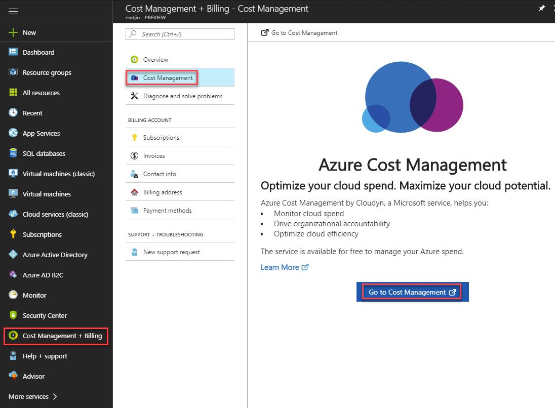 Cost Management Portal