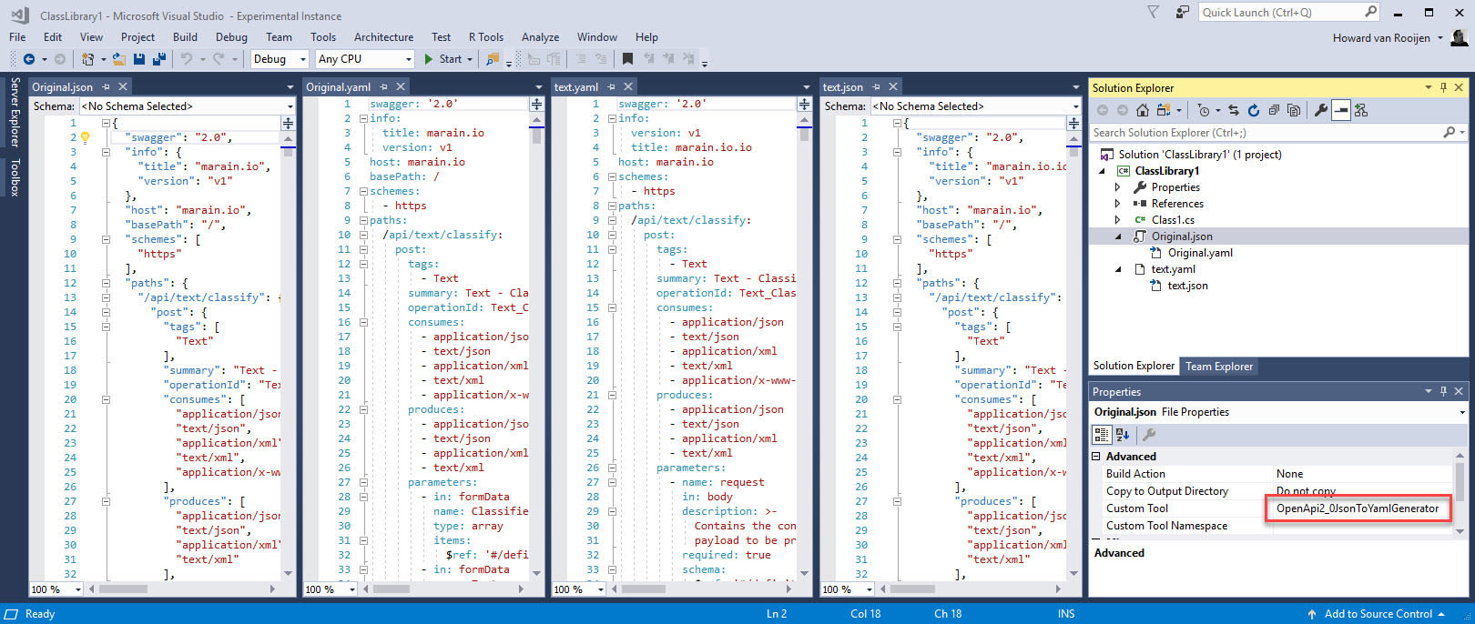 OpenAPI code generators for Visual Studio