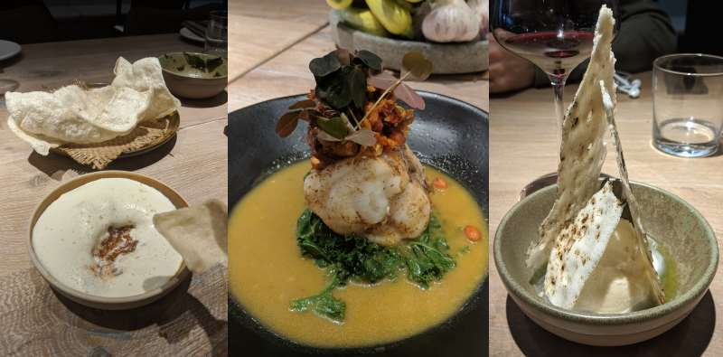 Three of the dishes at Scully St James's